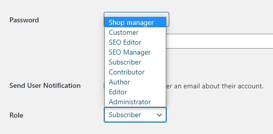 additional user roles wordpress