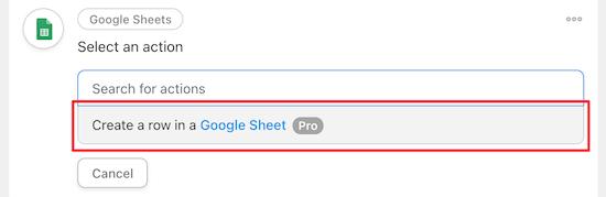 create a row google sheets 1