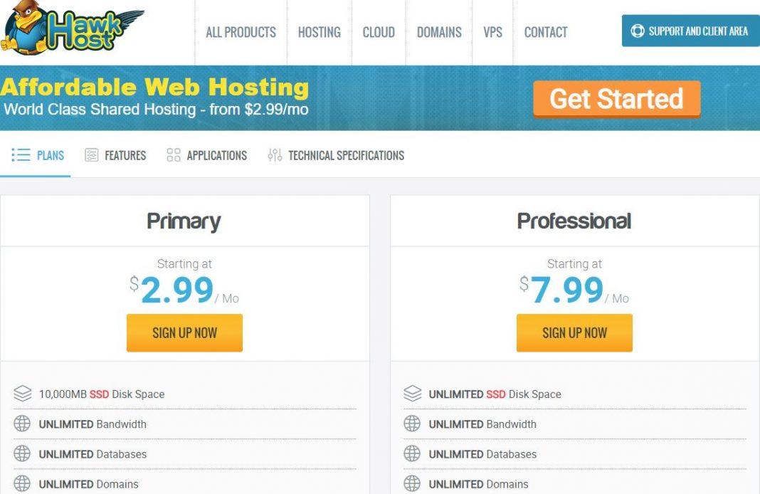 Đám giá hosting Hawkhost