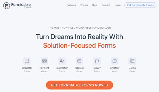 Plugin tạo biểu mẫu cho website bất động sản