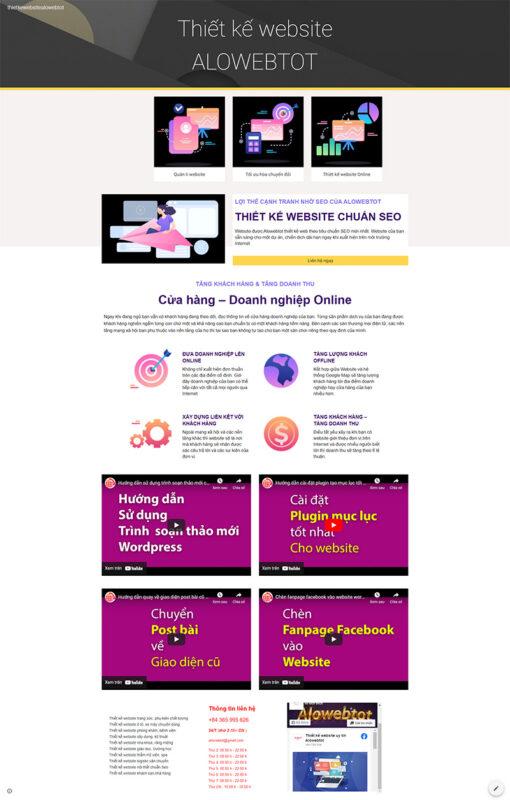 google thiet ke website alowebtot