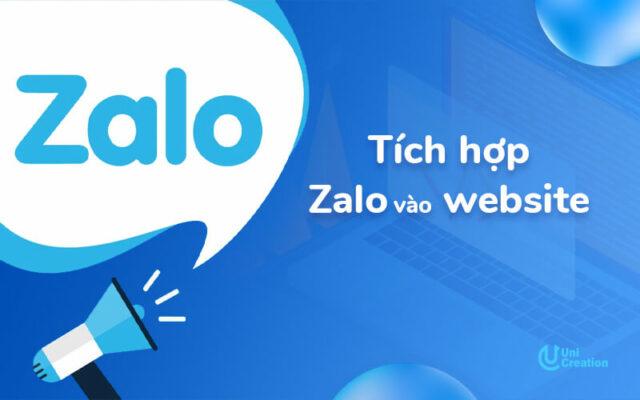 Hướng dẫn tích hợp Zalo vào website