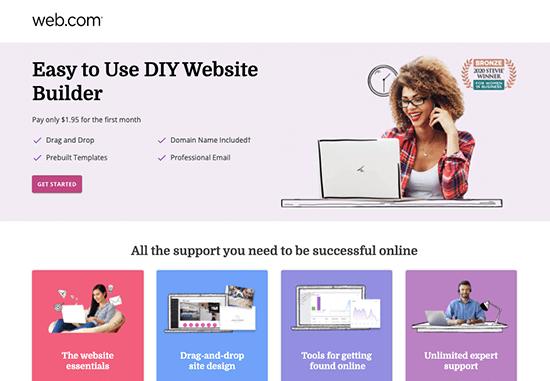 webcom website builder page