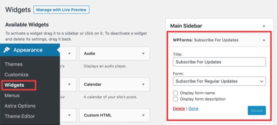 widget sidebar 1