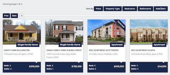 wp property listings